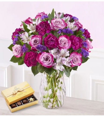 Crazy About Purple With Chocolates