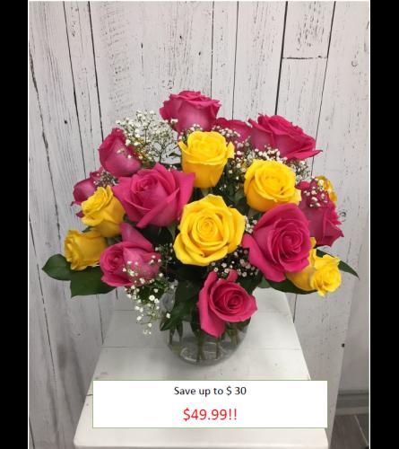 24 stem Mystery Color Rose
