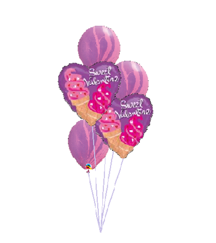 Sweet Valentine Classic Balloon Bouquet