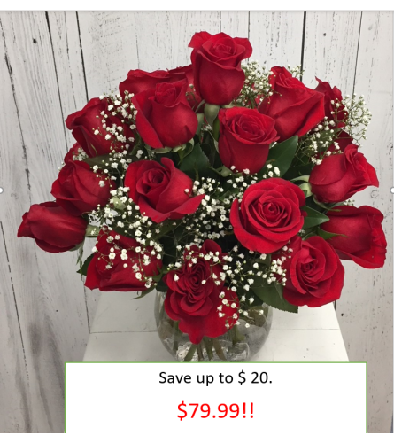 24 stem Red Rose Bouquet