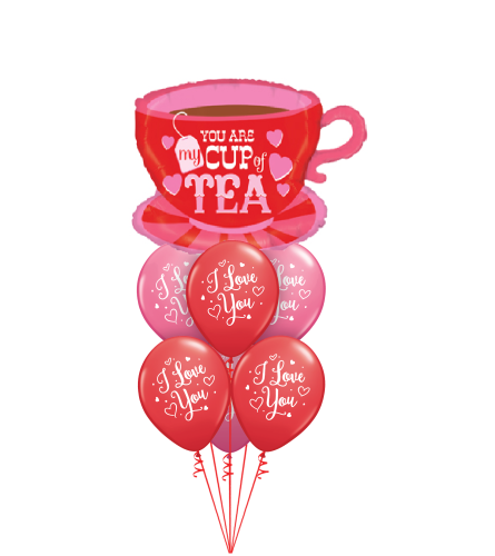 You Are My Cup of Tea Awesome Balloon Bouquet