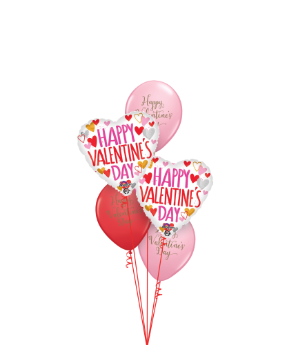 Happy Valentine's Day Classic Balloon Bouquet