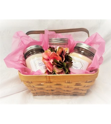 Basket of Scents - Local hand crafted Candles