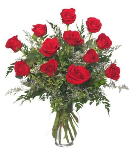 Classic Dozen Red Roses- Valentine's Special