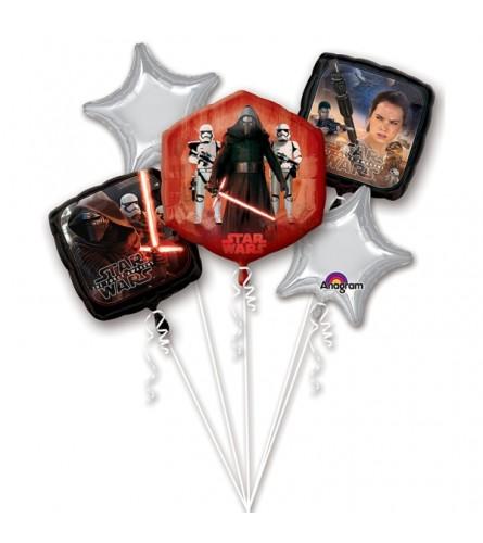 Star Wars The Force Awakens Super Fun Foil Balloon Bouquet