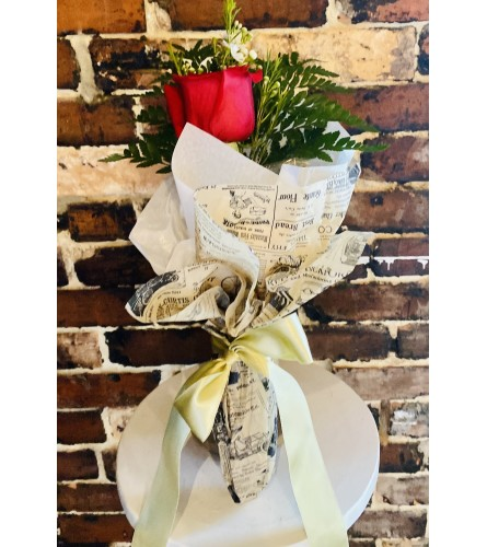 Single Wrapped Rose