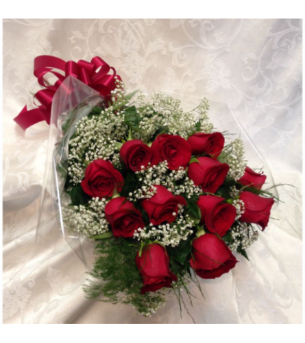 12 Red Rose Wrapped