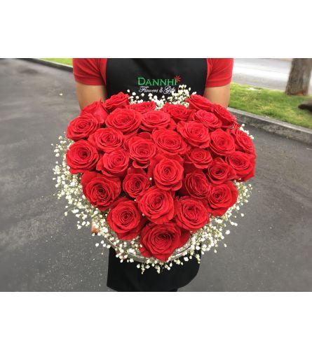 Flowersbox red heart