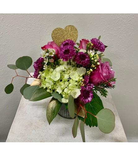 Valentine's Roses in Tin
