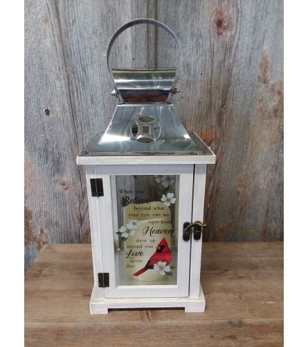 Lantern Silver Top w/ Cardinal