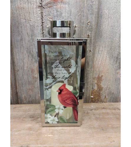 Lantern Silver w/ Cardinal