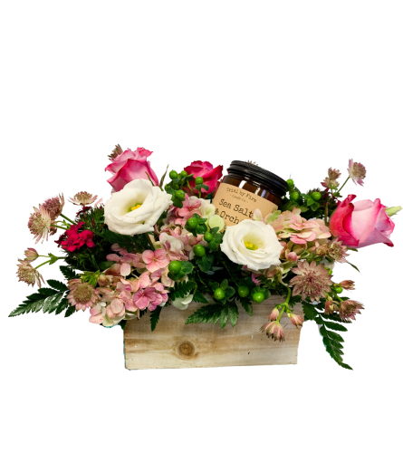 Flower Box with Candle