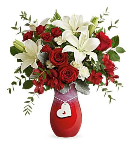 Charming heart Bouquet By Teleflora