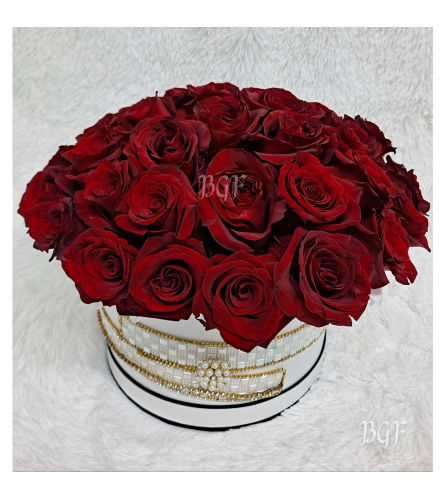 Channel Roses in a Couture Box