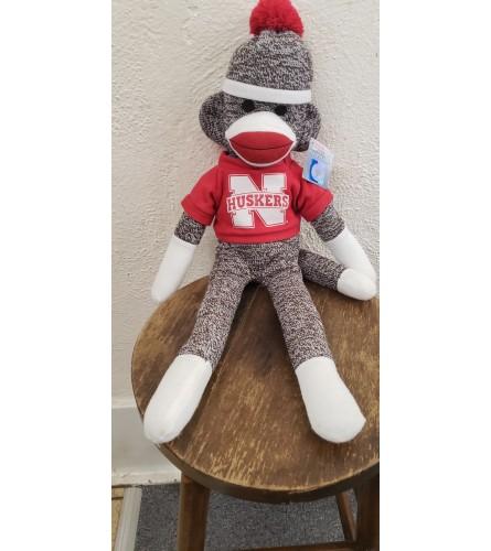Husker Sock Monkey