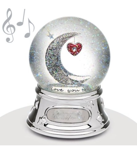 Musical Water Globe I love you to the moon...