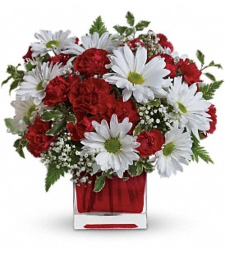 Teleflora's Red and White Delight