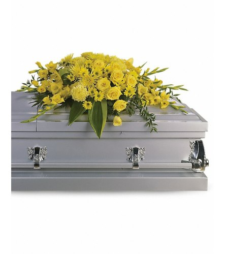 All Yellow Casket Spray