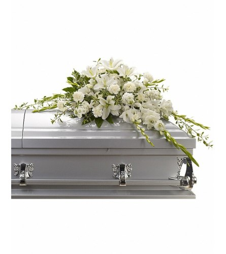 All White Mixed Casket Spray