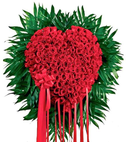Standing All Rose Deluxe Bleeding Heart