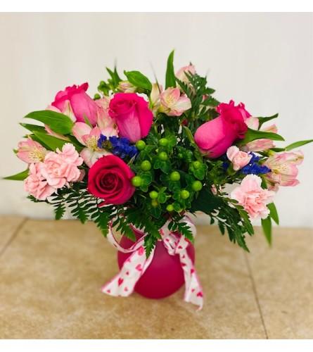 Pink Hearts Arrangement