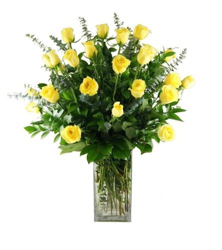 2 Dozen Stunning Yellow Roses