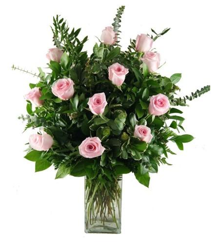 1 Dozen Stunning Pink Roses