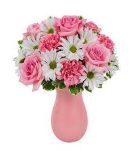 White Diasy and Pink Roses