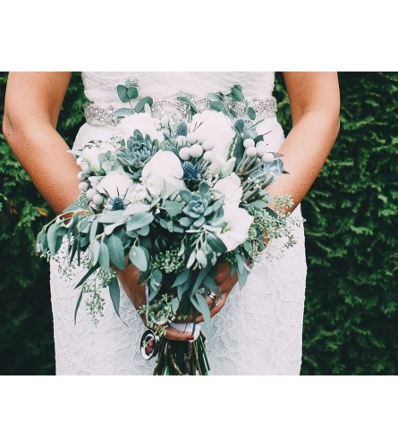 Wedding series - Rustic , Succulent Bouquet
