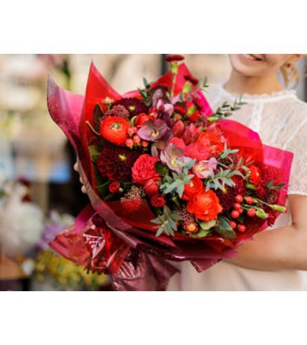 Valentines Florist Choice Mix Bouquet  (no vase)