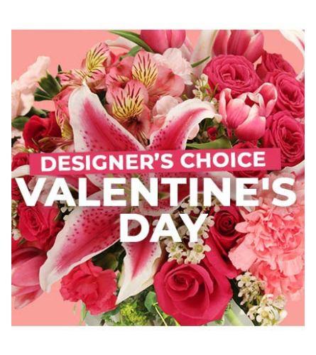 Valentines Florist Choice Hand Tied Bouquet