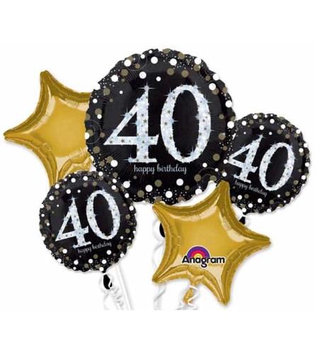 Sparkling 40 Super Fun Foil Balloon Bouquet