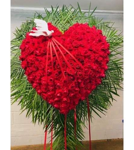 Bleeding Heart of Red Roses