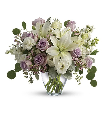 Lovely Lilies & Lavender Roses