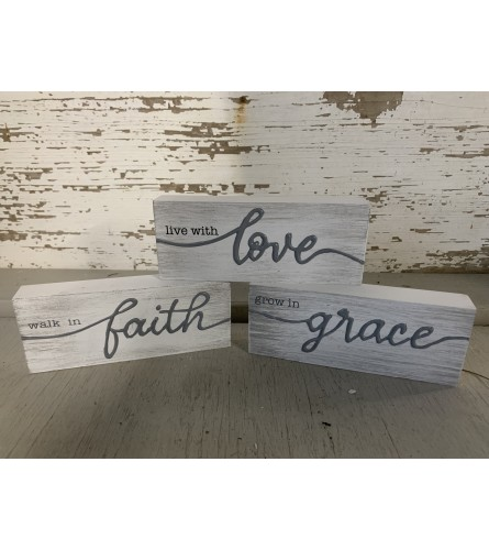 Hope, Peace, Grace, and Joy Signs