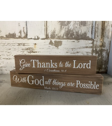Wooden Faith Signs