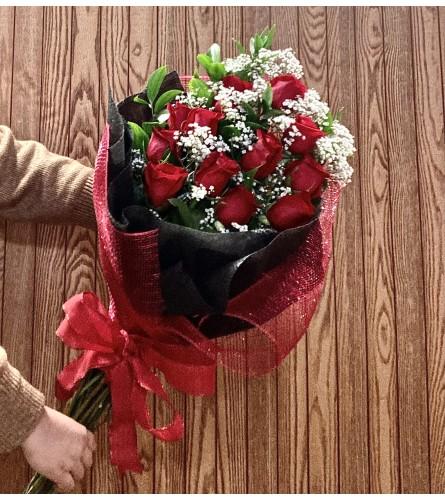 Red field bouquet