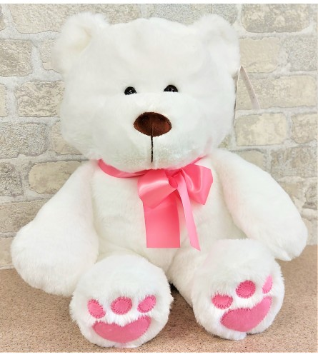 Bear with a pink bow