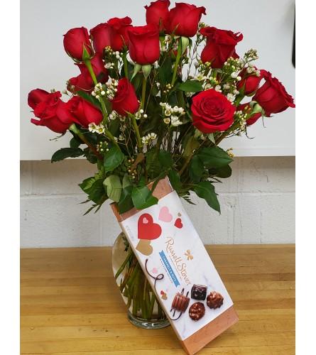 Dozen Red Roses Valentines