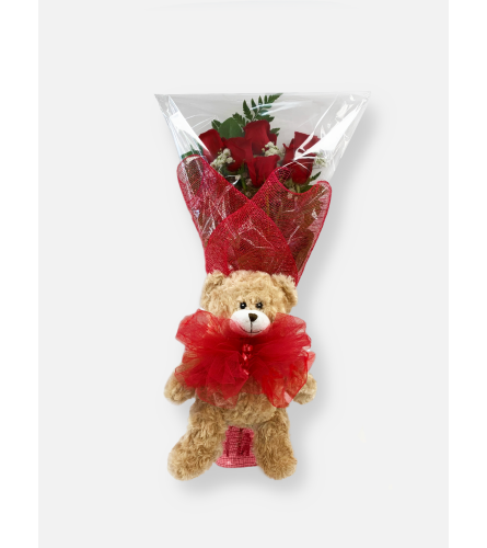 Teddy Bear Hug Bouquet