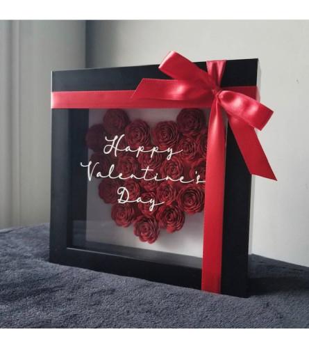 Happy Valentine's Day Shadow Box
