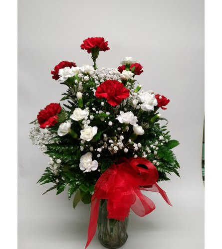 Valentine Carnations and Mini Carnations