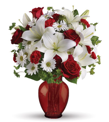 Be My Love Arrangement With Red Roses