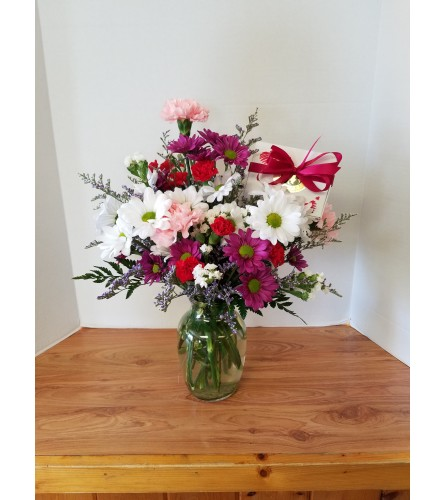 Sweets and Flowers Valentine Bouquet