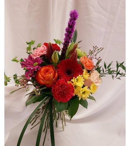 Designer Choice from the Garden, Hand tied Bouquet