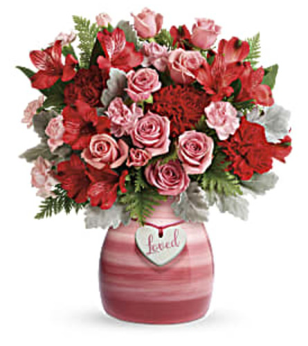 Playfully Pink Valentines Flowers