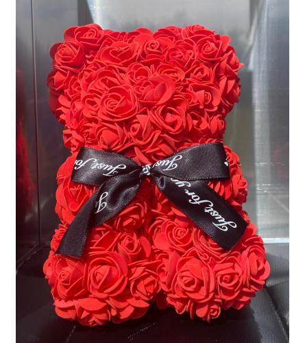 Forever Rose Teddy In Red