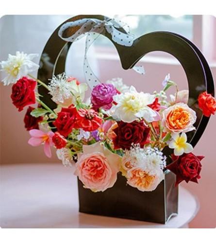 Black Heart Flower Box