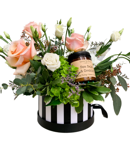 Flowers & Candle Hatbox