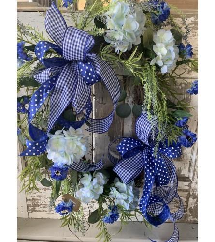Vibrant Blue Wreath